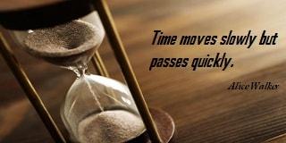 Image d'un dicton sur Le Temps Passe Vite