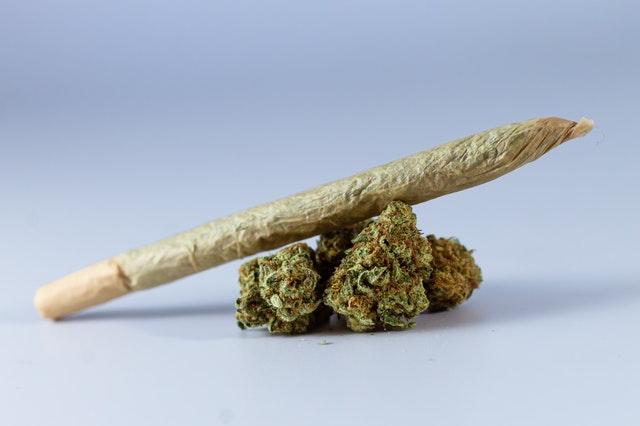 Joint et bud de cannabis