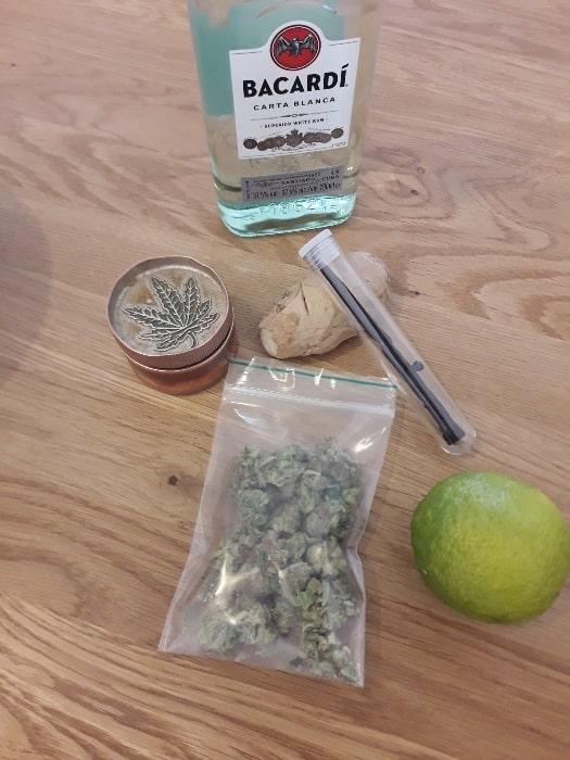 Ingrédients pour faire du rhum arrangé au cannabis